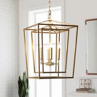 "Prosperus Updated Traditional Gold 21.3"" Lantern Lighting Fixture"