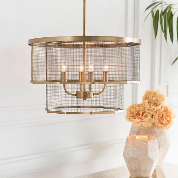 """Lennart Modern Brass 13.6"""" Pendant Lighting Fixture"""