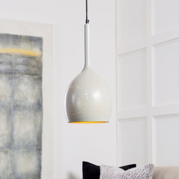 "Boadicea Modern Gray 16.5"" Pendant Lighting Fixture"