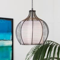 "Kamala Transitional Black 12.75"" Pendant Lighting Fixture"