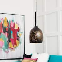 "Boadicea Modern Black 16.5"" Pendant Lighting Fixture"