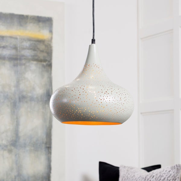 "Boadicea Modern Grey 11.75"" Pendant Lighting Fixture"