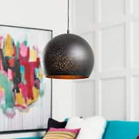 "Boadicea Modern Black 10.25"" Pendant Lighting Fixture"