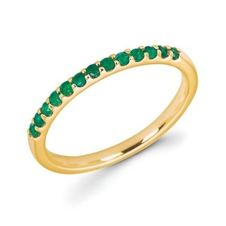 14Karat Yellow Gold Emerald Ring (5 options available)