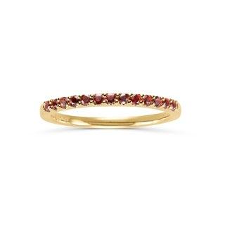 14Karat Yellow Gold Garnet Ring