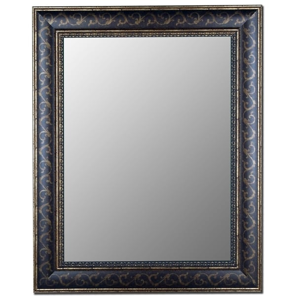 Hitchcock Butterfield Bordeaux Scroll Large Bronze Gold Transitional Mirror