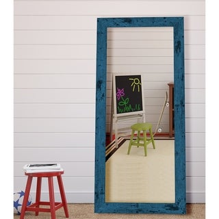 Hitchcock Butterfield Dorian Vintage Barnwood Large Blue Transitional Mirror