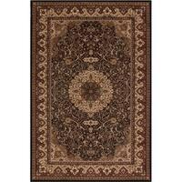 Concord Global Persian Classics Iris Black Area Rug - 7'10' x 11'2