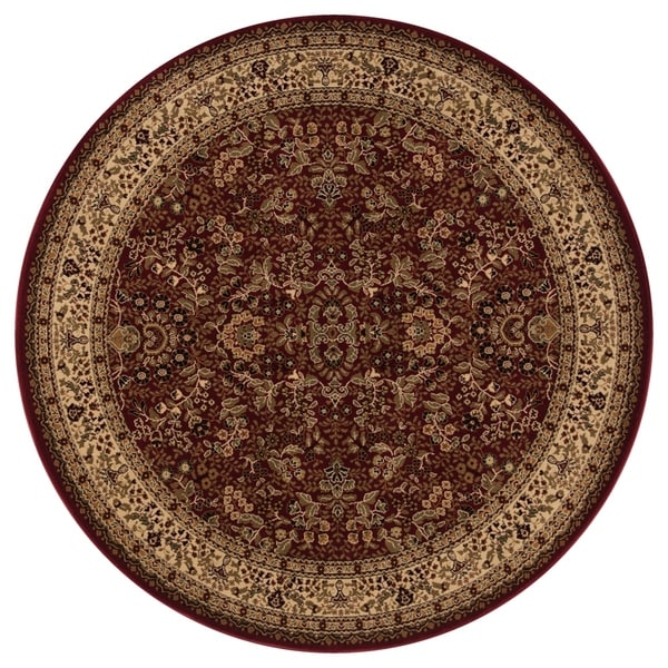 """Concord Global Persian Classics Salvia Red Round Rug - 7'10"""" x 7'10"""""""