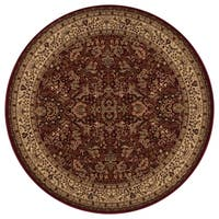 "Concord Global Persian Classics Salvia Red Round Rug - 7'10"" x 7'10"""