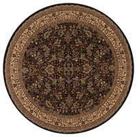 "Concord Global Persian Classics Salvia Black Round Rug - 7'10"" x 7'10"""