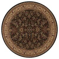 "Concord Global Persian Classics Salvia Black Area Rug - 5'3"" x 5'3"""