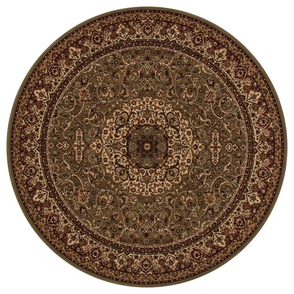 "Concord Global Persian Classics Iris Green Round Rug - 5'3"" x 5'3"""