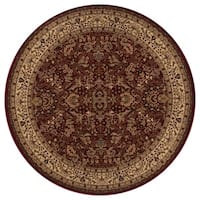 """Concord Global Persian Classics Salvia Red Round Rug - 5'3"""" x 5'3"""""""