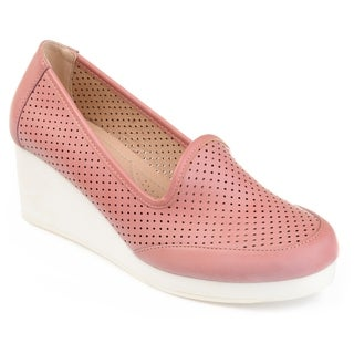 Journee Collection Women's 'Safire' Comfort-sole Lightwieight Laser-cut Wedges