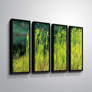ArtWall Richard James 'Grasses' 4 Piece Floater Framed Canvas Set