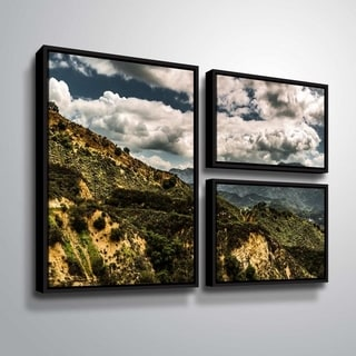 ArtWall Richard James 'Topanga I' 3 Piece Floater Framed Canvas Flag Set
