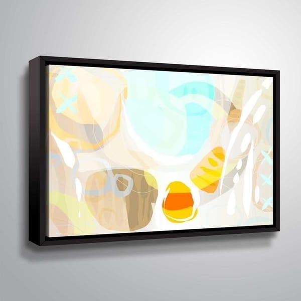 ArtWall Delores Orridge Naskrent 'Candy Corn' Gallery Wrapped Floater-framed Canvas