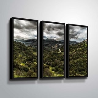ArtWall Richard James 'Topanga III' 3 Piece Floater Framed Canvas Set