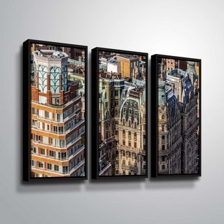 ArtWall Richard James 'Ansonia Roof' 3 Piece Floater Framed Canvas Set