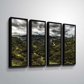 ArtWall Richard James 'Topanga III' 4 Piece Floater Framed Canvas Set