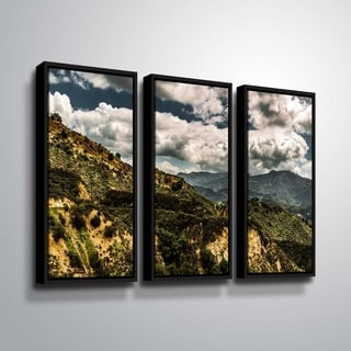 ArtWall Richard James 'Topanga I' 3 Piece Floater Framed Canvas Set