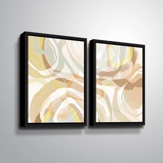 ArtWall Delores Orridge Naskrent 'Ginger Tang' 2 Piece Floater Framed Canvas Set