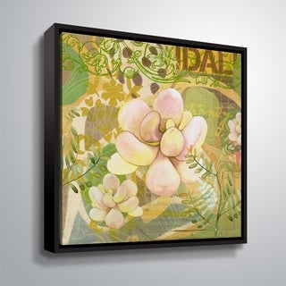ArtWall Delores Orridge Naskrent 'Grenada Garden' Gallery Wrapped Floater-framed Canvas - Green