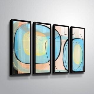 ArtWall Delores Orridge Naskrent 'Robin's Egg' 4 Piece Floater Framed Canvas Set