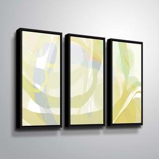 ArtWall Delores Orridge Naskrent 'Pear Piquant' 3 Piece Floater Framed Canvas Set
