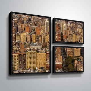 ArtWall Richard James 'Upper West Side' 3 Piece Floater Framed Canvas Flag Set
