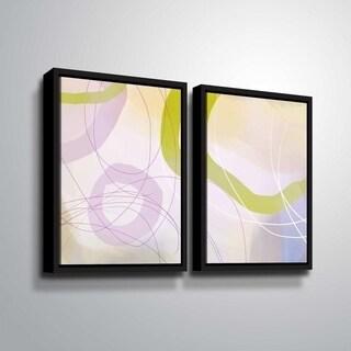 ArtWall Delores Orridge Naskrent 'Cosmopolitan Mauve' 2 Piece Floater Framed Canvas Set