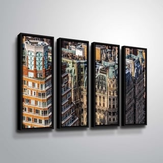 ArtWall Richard James 'Ansonia Roof' 4 Piece Floater Framed Canvas Set