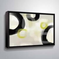 ArtWall Delores Orridge Naskrent 'Bahai Basalt' Gallery Wrapped Floater-framed Canvas