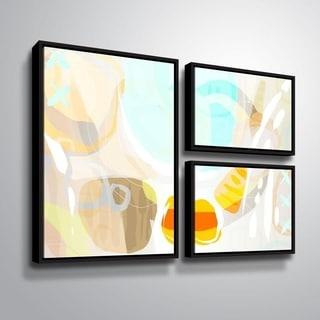 ArtWall Delores Orridge Naskrent 'Candy Corn' 3 Piece Floater Framed Canvas Flag Set