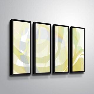 ArtWall Delores Orridge Naskrent 'Pear Piquant' 4 Piece Floater Framed Canvas Set