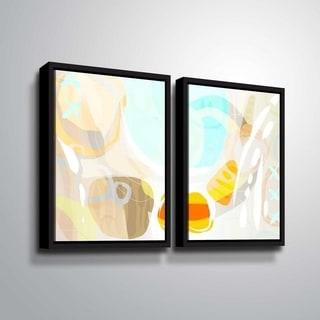 ArtWall Delores Orridge Naskrent 'Candy Corn' 2 Piece Floater Framed Canvas Set