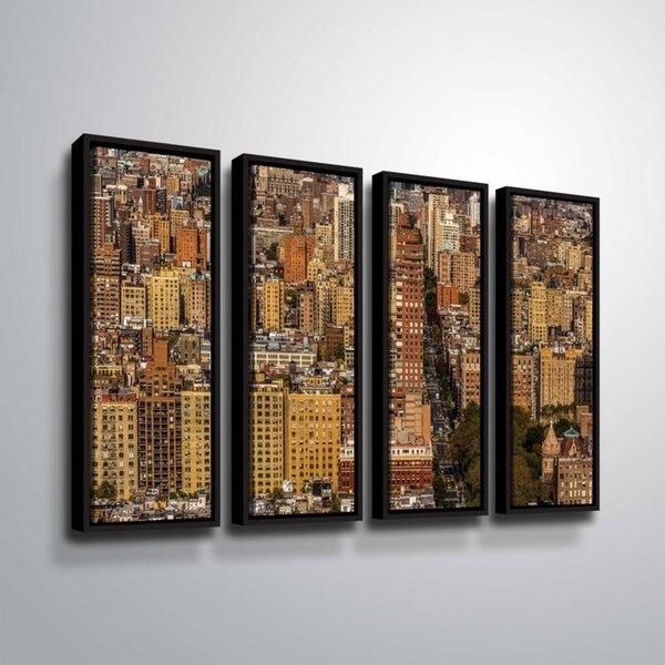 ArtWall Richard James 'Upper West Side' 4 Piece Floater Framed Canvas Set