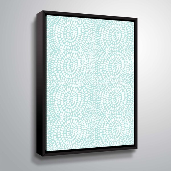 ArtWall Delores Orridge Naskrent 'Sunstroke' Gallery Wrapped Floater-framed Canvas - White