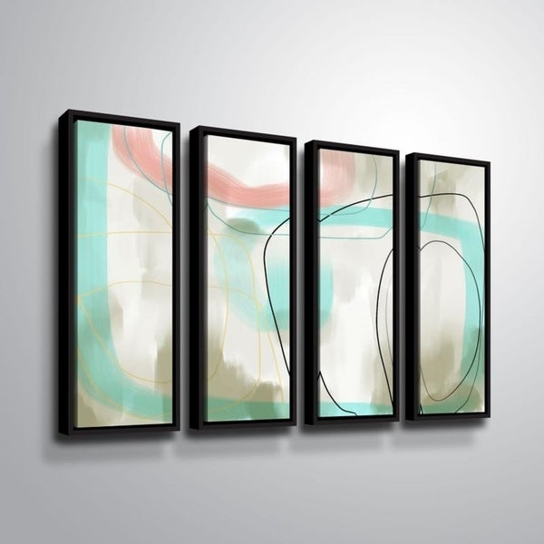 ArtWall Delores Orridge Naskrent 'To One's Liking' 4 Piece Floater Framed Canvas Set