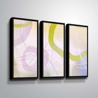 ArtWall Delores Orridge Naskrent 'Cosmopolitan Mauve' 3 Piece Floater Framed Canvas Set