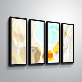 ArtWall Delores Orridge Naskrent 'Candy Corn' 4 Piece Floater Framed Canvas Set