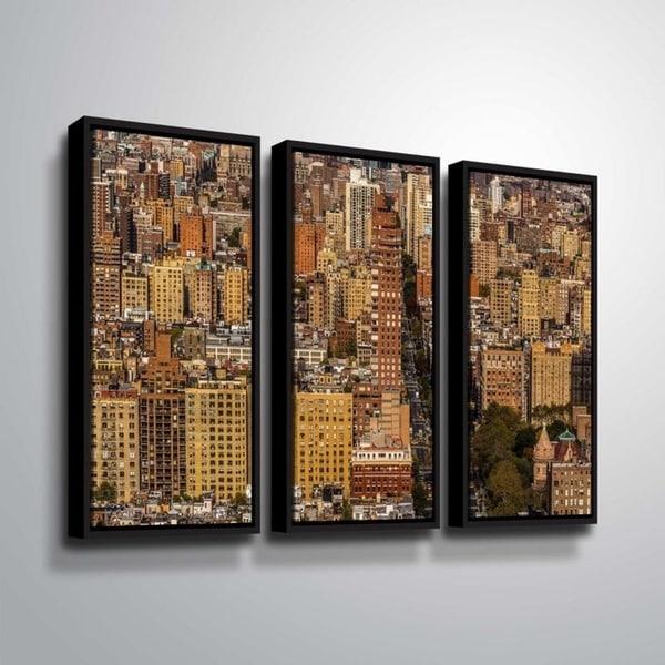 ArtWall Richard James 'Upper West Side' 3 Piece Floater Framed Canvas Set