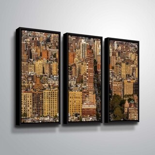 ArtWall Richard James 'Upper West Side' 3 Piece Floater Framed Canvas Set