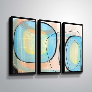 ArtWall Delores Orridge Naskrent 'Robin's Egg' 3 Piece Floater Framed Canvas Set