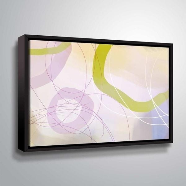 ArtWall Delores Orridge Naskrent 'Cosmopolitan Mauve' Gallery Wrapped Floater-framed Canvas