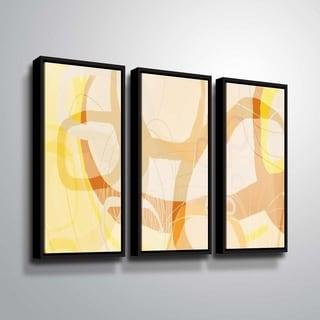 ArtWall Delores Orridge Naskrent 'Caramel Candy' 3 Piece Floater Framed Canvas Set