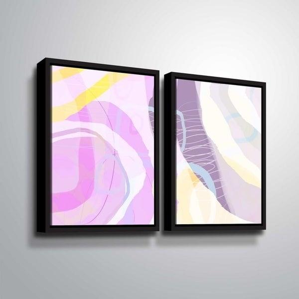 ArtWall Delores Orridge Naskrent 'Grape Crush' 2 Piece Floater Framed Canvas Set