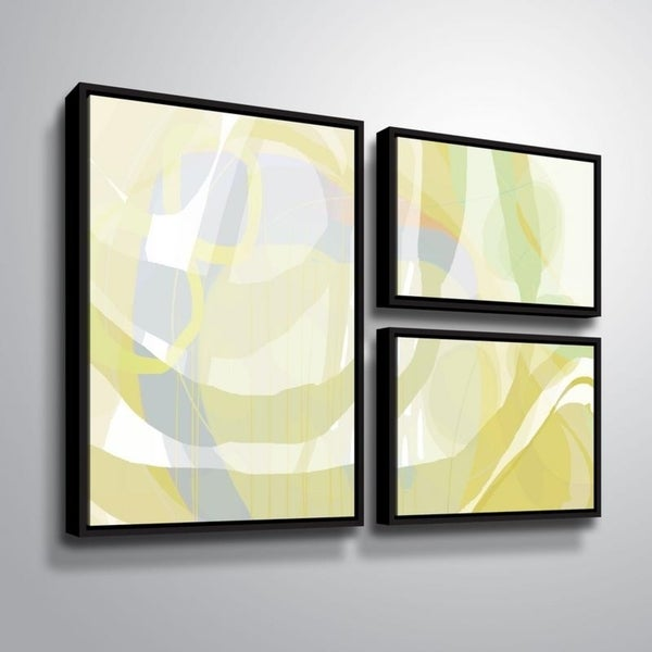 ArtWall Delores Orridge Naskrent 'Pear Piquant' 3 Piece Floater Framed Canvas Flag Set