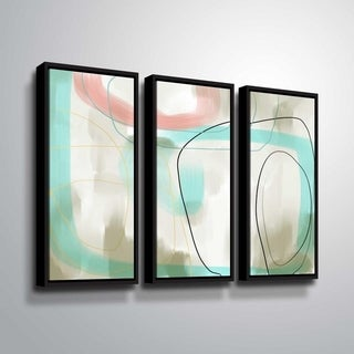 ArtWall Delores Orridge Naskrent 'To One's Liking' 3 Piece Floater Framed Canvas Set